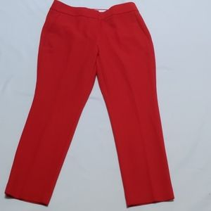 Ann Taylor Loft Red Skinny Pants